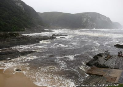 Storms river mouth at the back
